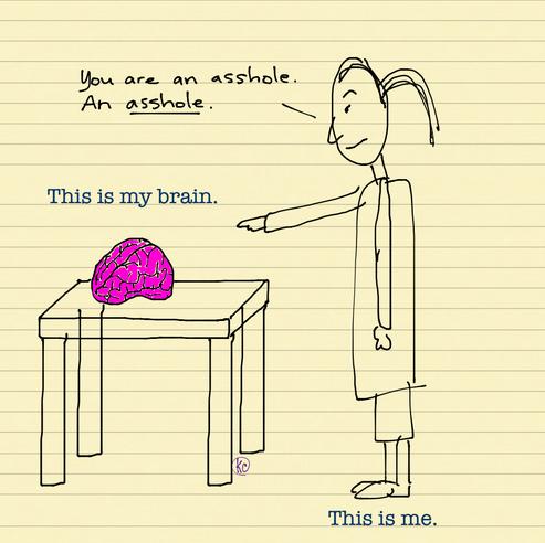The brain the asshole